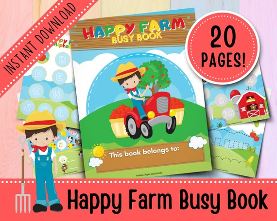 Happy Farm Busy Book for Toddlers  Kids Busy Book  Toddler