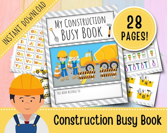 Construction Busy Book for Toddlers  Busy Binder  Quiet