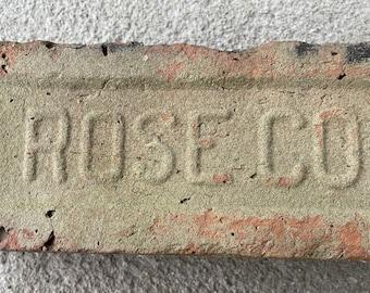 Antique historic brick Rose Company