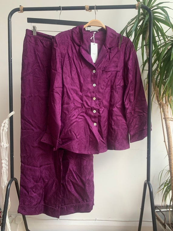 Brand New Liberty Silk Pyjamas in purple