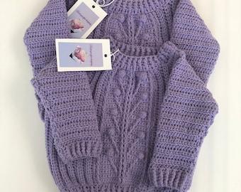 Winter garden sweater, crochet baby sweater, newborn to toddler sweater, soft baby cardigan, vintage cardigan