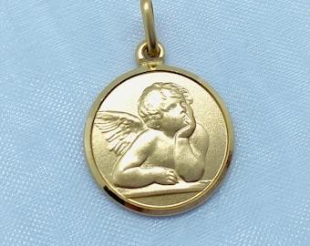 Lippi Medal  925 Sterling Silver Medal Pendant Virgin of Filipino Lippi Italian Cuatrocentista Painter  16mm Size 3D Design Medal