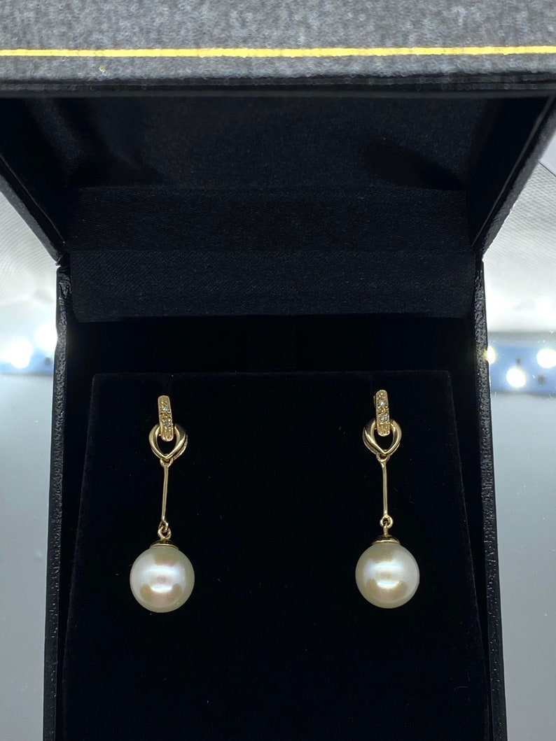Pearl Jewerly Bride 14K Solid Gold Japanese Pearl Set Japanese Pearl Earrings Mother\u2019s Day Birthday Gift June Birthstone