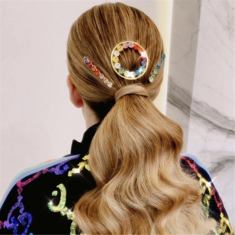 Simple Gold Inset Round Hair Jewelry For Women Fashion Trend Chic Pearl Barrettes Hair Pin Wedding Hair Accessories