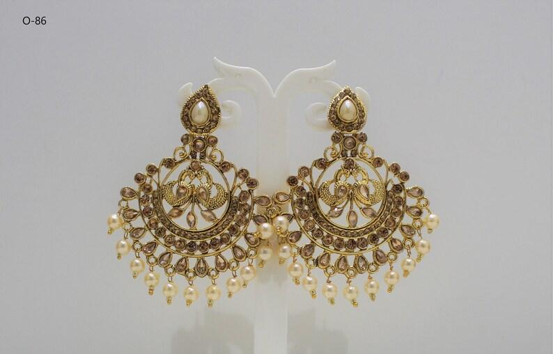 Indian GOLD Plated Oxidized Latest Design Jumka Jumki Earring Women Fashion