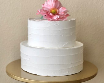 Type3] fake/faux cake : size 6inch, 8inch, 10inch (white)/4inch thick