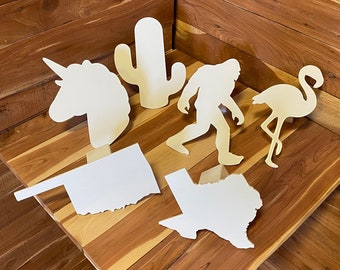 White,   hitch cover, unicorn, cactus, yeti, oklahoma, texas, flamingo