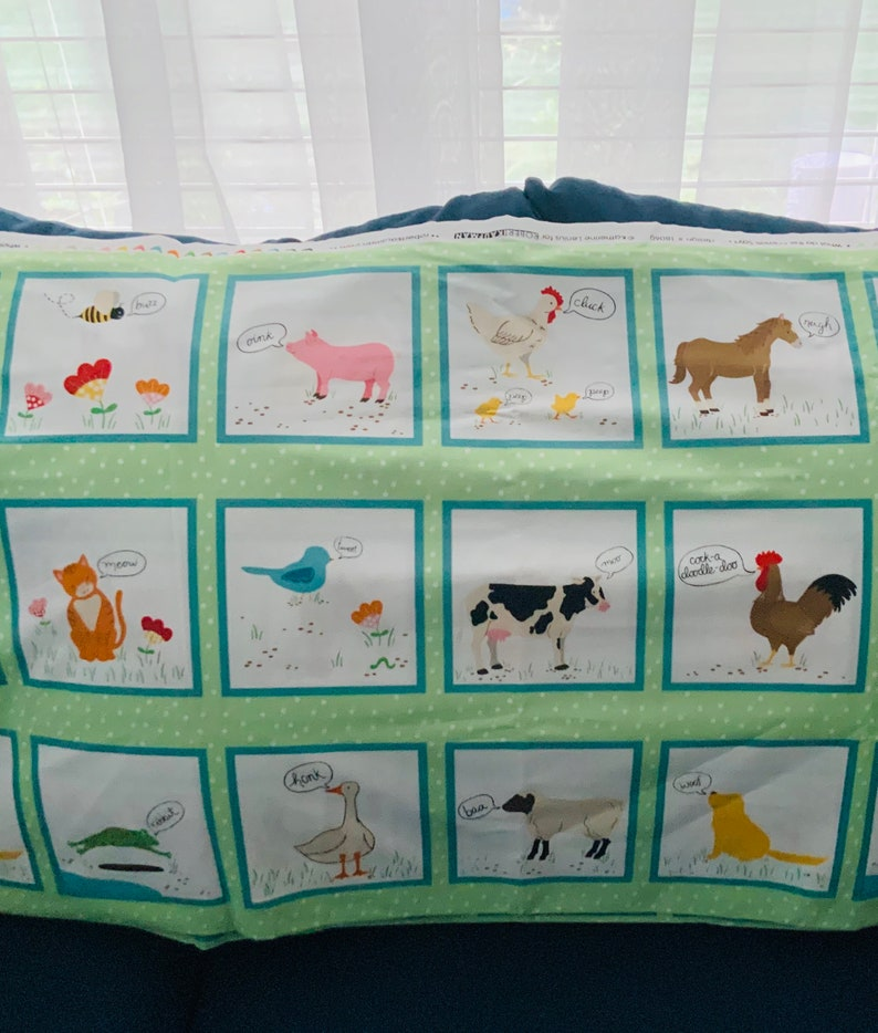 What do animals say by Robert Kaufman babies Toddlers fun time fabric