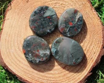 Bloodstone Medium Medallions or Thumb Stone