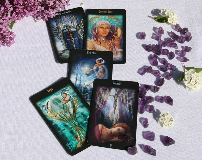 Featured listing image: 5 Card Tarot Reading and Guidance