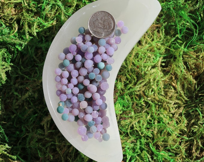 Featured listing image: Grape Agate Single Tiny Balls 3 Pieces