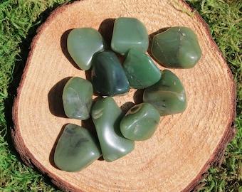 Green Chalcedony Tumbled