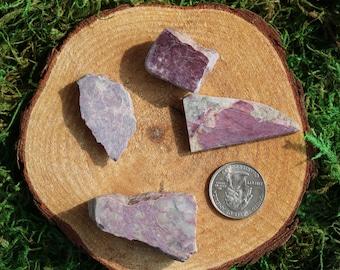 Purple Dumortierite Cut Pieces I-L