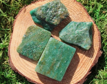 Green Fuchsite Free Form Polished Pieces
