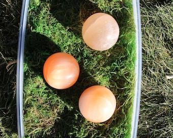 Orange Selenite Medium Sphere #A-C