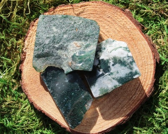 Green Moss Agate Free Form Polished Pieces