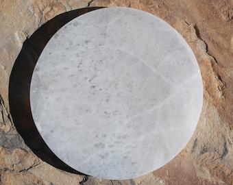 Selenite Large Circle Charging Plate