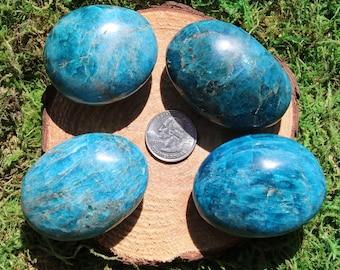 Blue Apatite Palm Stone #A-I