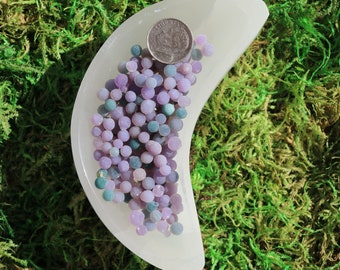 Grape Agate Single Tiny Balls 3 Pieces