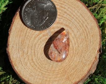 Pyrophyllite in Quartz Cabochon 644