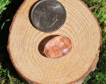 Pyrophyllite in Quartz Cabochon 640