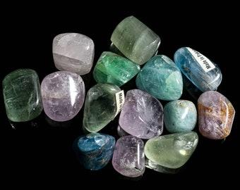 Multi-Colored Fluorite Tumbled
