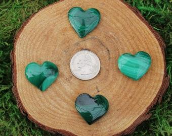 Malachite Polished Hearts A-J