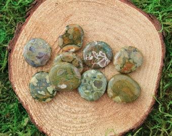 Rainforest Rhyolite Medium Medallions