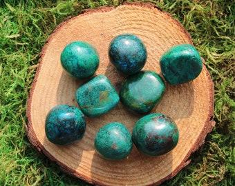Green Blue Chrysocolla Medium Tumbled