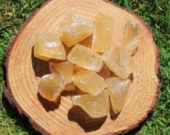 Honey (aka Citrine and Yellow) Calcite Raw Medium Piece