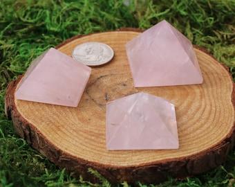 Rose Quartz Small Pyramid A-C