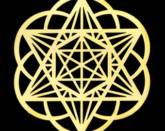 "3"" Merkaba Star Healing Gold Grid"
