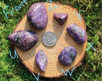 Purple Charoite Tumbled Pieces #U-HH