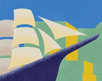 Giclée Boston Sailing Ship