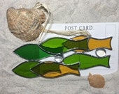 Stained Glass Fish, Shoal suncatcher, with hanging options