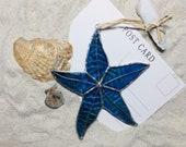 Stained Glass Starfish, suncatcher, gift