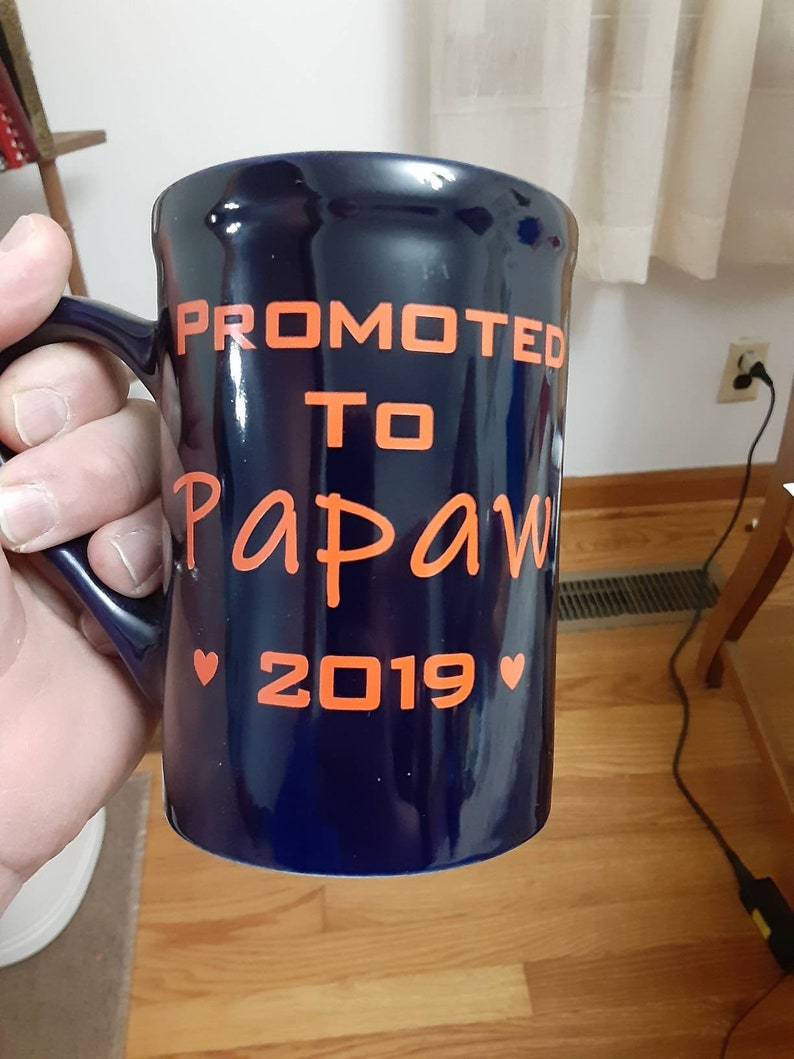 Aunt Perfect For Mugs Promoted to Papaw Laptops Mamaw Various Sizes /& Colors Available or Uncle Vinyl Decal or Automobiles