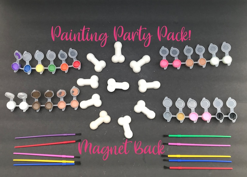 Perfect for Bachelorette Parties or Girls Night! Magnet Back Paint Party Pack