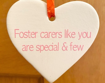 Adoption Foster care Symbol Heart Thank You key ring Thank those who care.