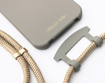 Cold Stone NECKLACE CASE 2 in 1 with detachable mobile phone chain Greygold, mobile phone strap | iPhone 12 Pro Max, iPhone 12 mini, iPhone 11 | Samsung S21
