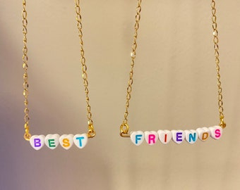 Beaded Necklace Easter BFF Gift Ideas Best Friend Gifts Gifts For Her Mothers day Best Friends Necklace Valentines day
