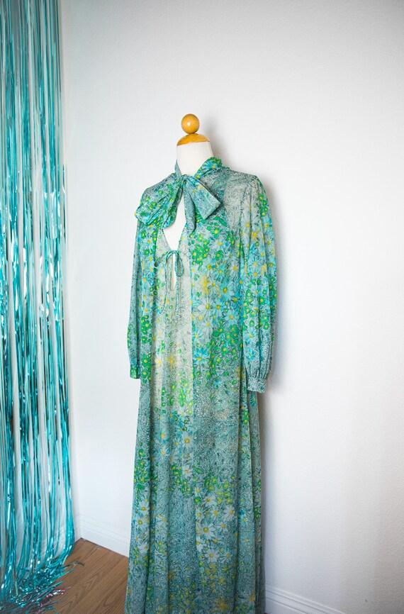 Vintage 1960's Sheer Lingerie Gown & Robe