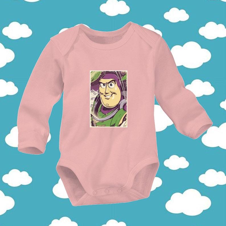 Disney Toy Story 4 Main Character Buzz Lightyear Family Cute Trendy Newborn Baby 0-24 Months Girl Boy Long Sleeve V10