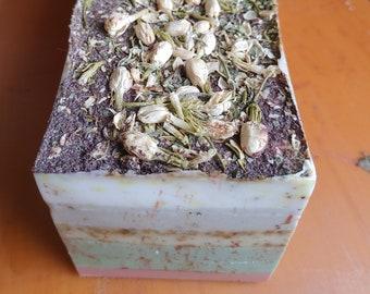 EARTH *MINT* Organic Handmade Essential Oil Bar Soap/ Natural Cruelty Free Hand Soap/ Vegan for Sensitive Skin/ Green Tea/ Jasmine