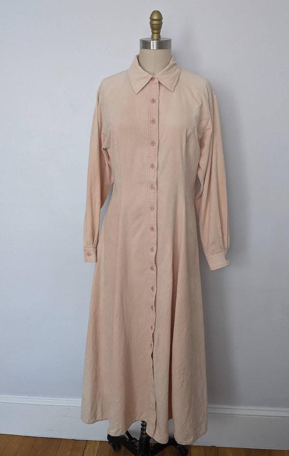 Vintage Corduroy Shirt Dress