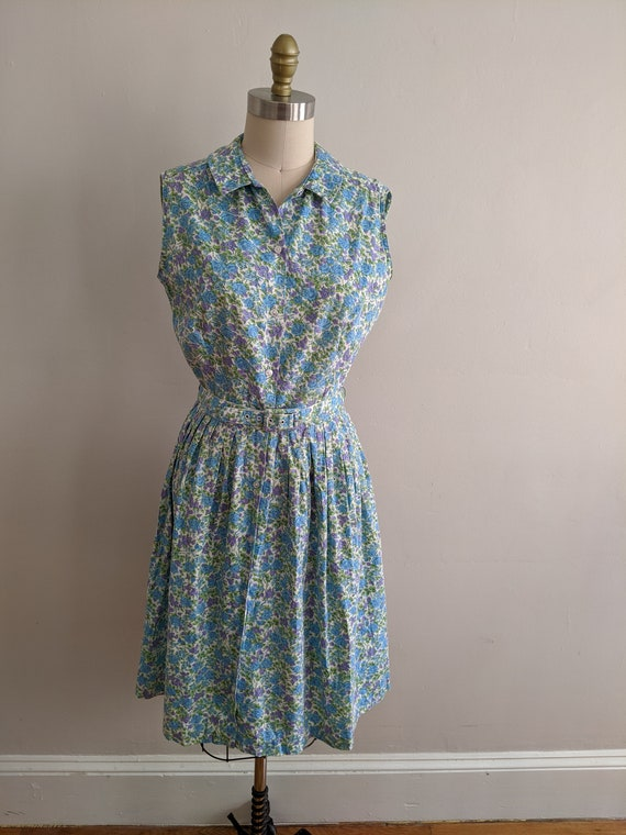 Vintage 60s Floral Cotton Dress