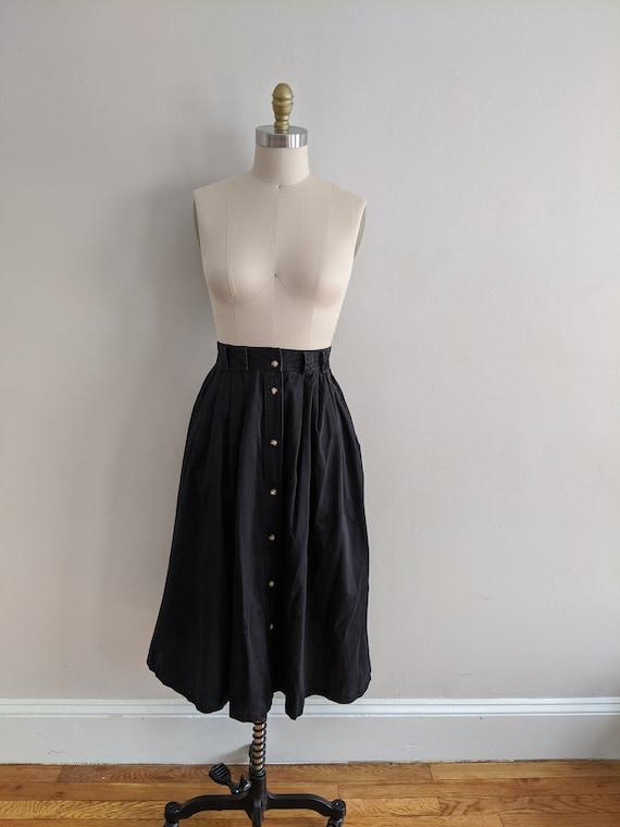 Karen Scott Cotton Midi Skirt