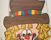 Scarecrow Door Hanger - Fall - Door Decor - Scarecrow