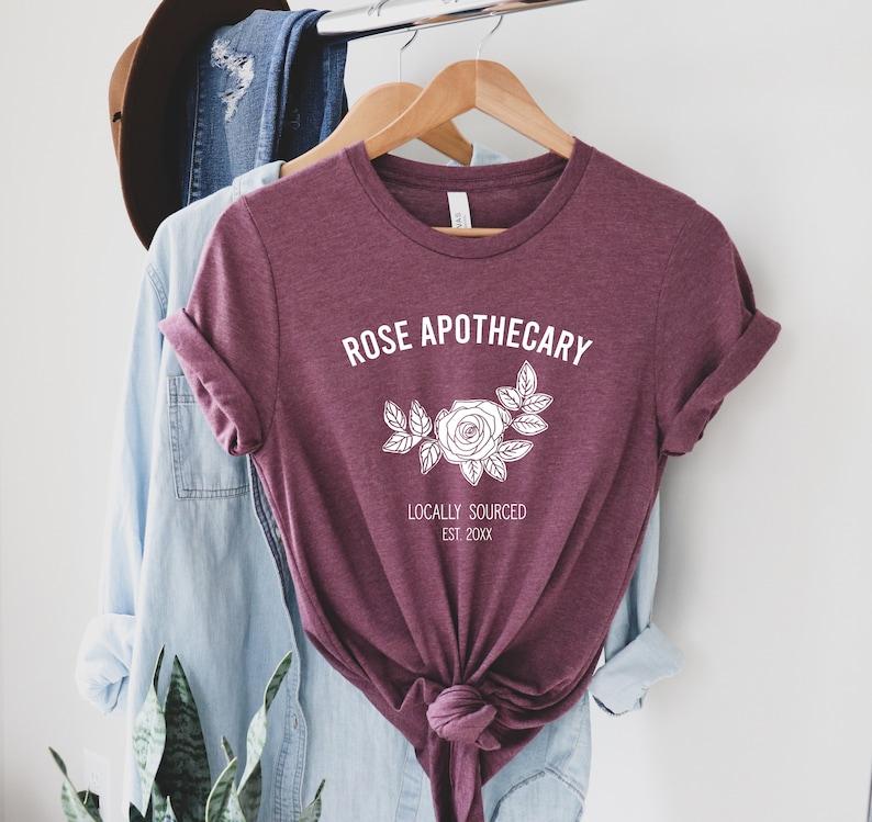 Rose Apothecary Unisex T Shirt Rose Apothecary tee David   Etsy