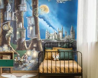 Kids 'Enchanted Creature Forest' Magical Woodland Animals Kids Bedroom Nursery Wallpaper Wall Mural - Gender Neutral Unisex
